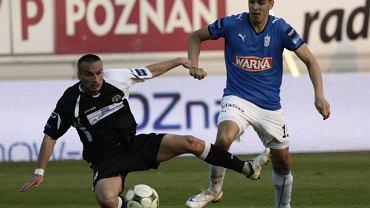 Haris Handzić w barwach Lecha Poznań podczas meczu z Polonią Warszawa