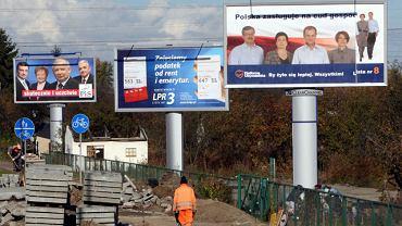 Wyborcze billboardy z roku 2007