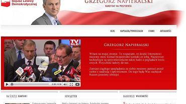 Nowa strona Grzegorza Napieralskiego