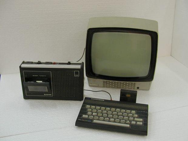 ZX - Spectrum czyli jeden z pierwszych małych komputerów domowych wyprodukowanych przez angielską firmę w roku 1982.