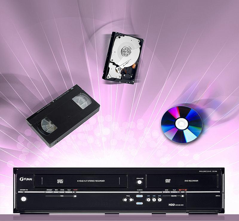 Nagrywarka VHS/DVD firmy Funai