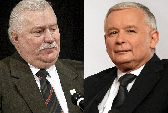 Lech Wałęsa i Jarosław Kaczyński