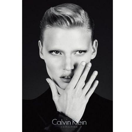 Lara Stone w kampanii Calvin Klein Collection