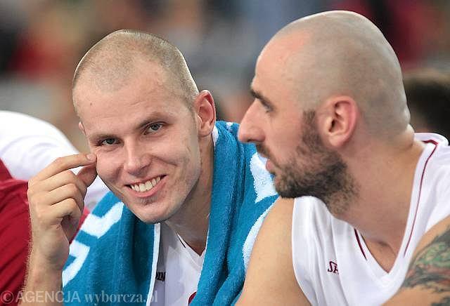 Maciej Lampe i Marcin Gortat