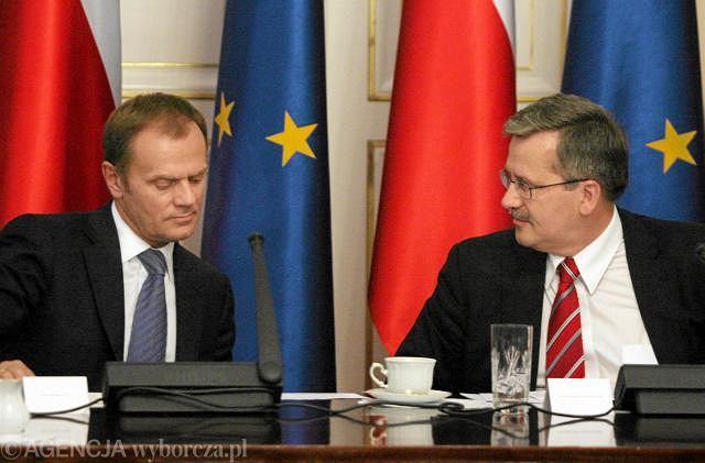 Donald Tusk i Bronisław Komorowski