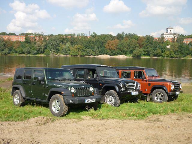 Jeep Wrangler Unlimited, Iveco Massif i Land Rover Defender 110