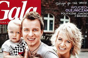 Piotr Kupicha wraz z żoną i dziećmi na okładce magazynu Gala