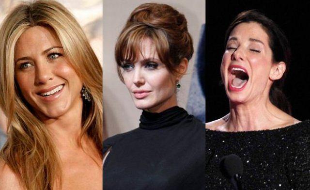 Jennifer Aniston, Angelina Jolie i Sandra Bullock