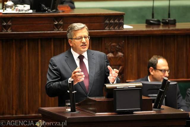 Bronisław Komorowski wygłasza orędzie po zaprzysiężeniu na prezydenta