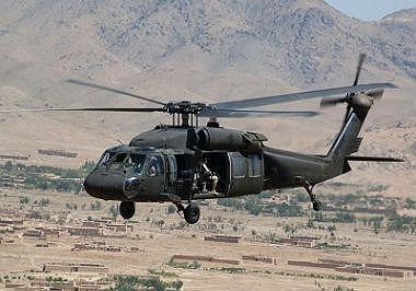 Helikopter Black Hawk w Afganistanie