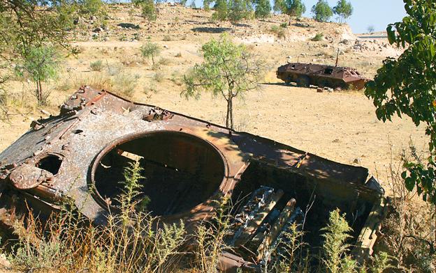 Wybebeszone wraki czołgów