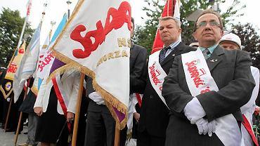Szczecin, uroczystości na placu Solidarności z okazji 30. rocznicy Sierpnia