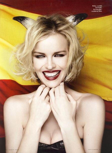 hiszpańskie wydanie Vanity Fair wrzesień 2010 - Eva Herzigova