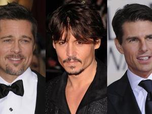 Brad Pitt, Johnny Depp i Tom Cruise.