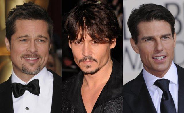 Brad Pitt, Johnny Depp i Tom Cruise.