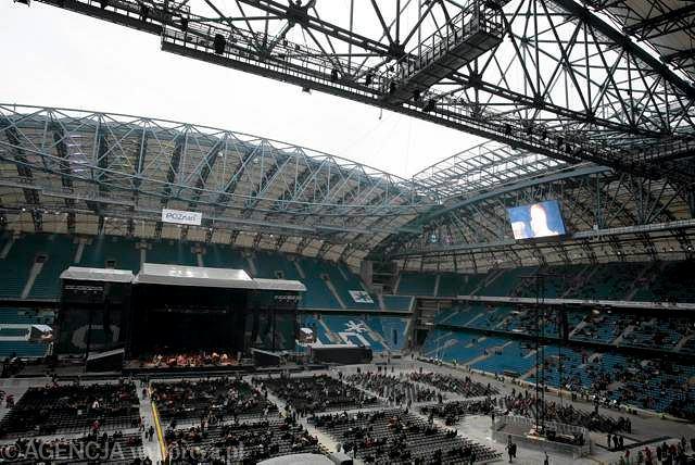 Wrzesień 2010. Otwarcie stadionu w Poznaniu, koncert Stinga