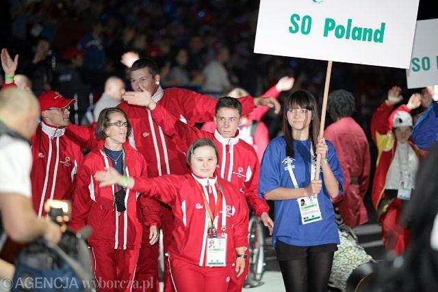 Uroczystość zakończenia Igrzysk Olimpiad Specjalnych 2010 w hali Torwar w Warszawie