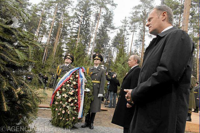 Premierzy - Rosji Władimir Putin i Polski - Donald Tusk