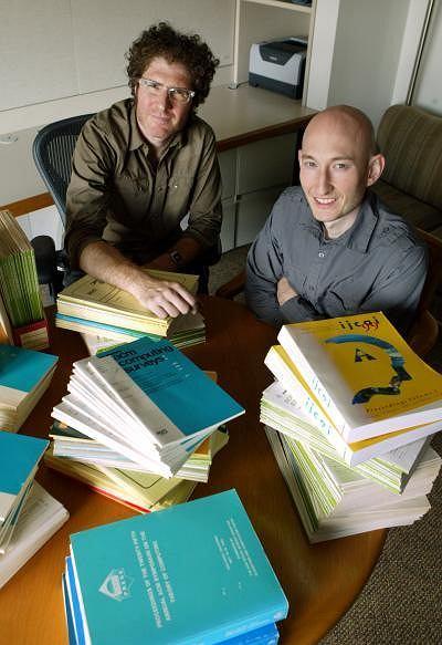 prof. David Blei (po lewej) i Sean Garrish