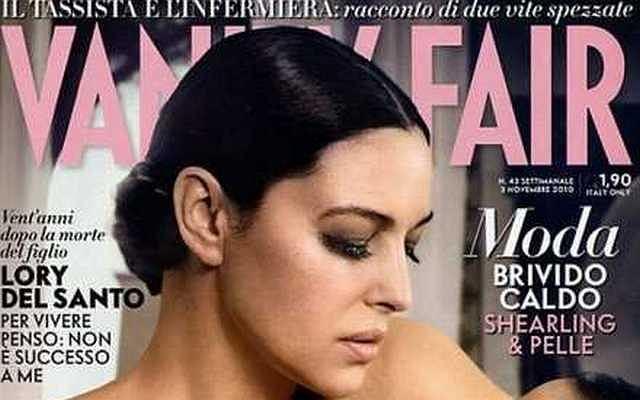 Monica Belluci na okładce Vanity Fair nago.