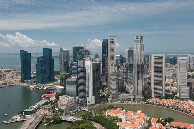 singapur, wieżowce