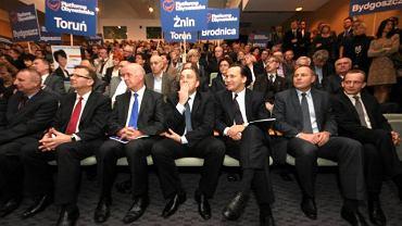 Marszałek Sejmu i szef MSZ podczas konwencji wyborczej w Bydgoszczy