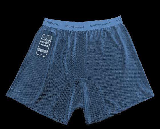 Travel Boxers z kieszenią na iPhone.