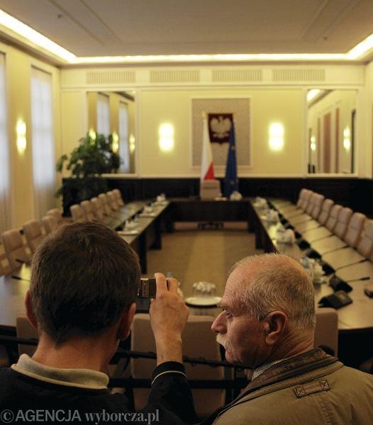 W tym pomieszczeniu spotykają się ministrowie