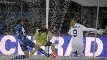 Krzysztof Kotorowski w meczu z Juventusem Turyn