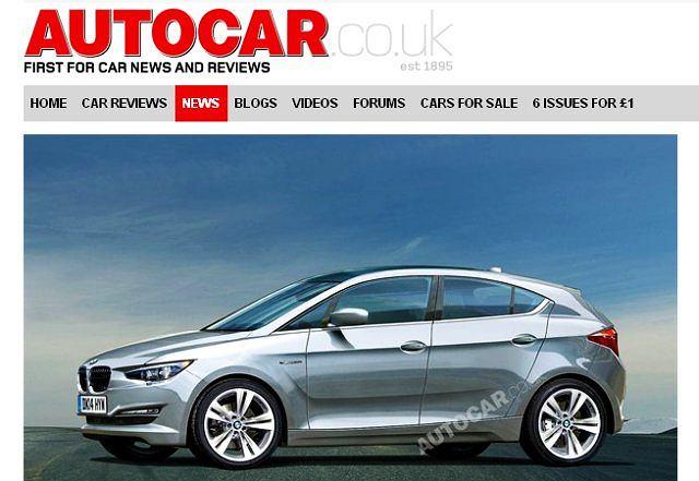 Czy tak wyglądać będzie nowy model BMW? (wizualizacja ze strony www.autocar.co.uk)