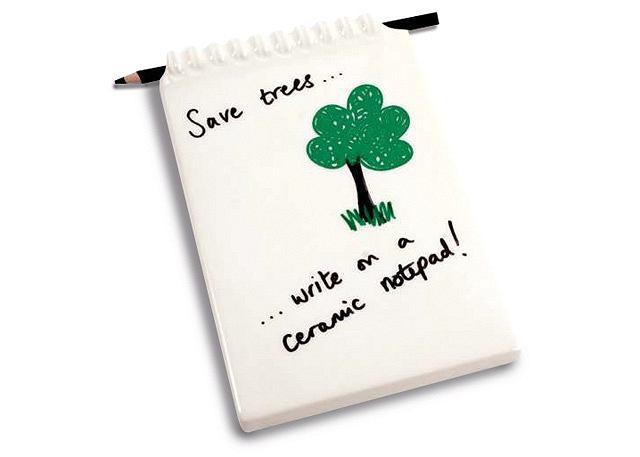 gadżety - Ceramic Notepad - ceramiczny notatnik