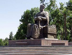 Uzbekistan, Samarkanda, Pomnik Timura