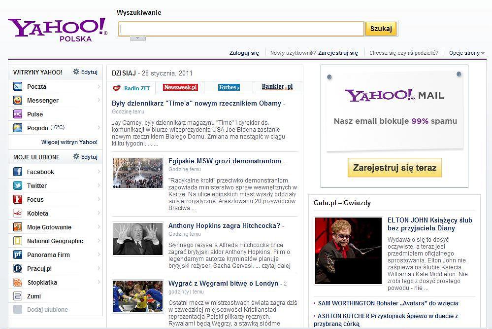 Portal Yahoo Polska.