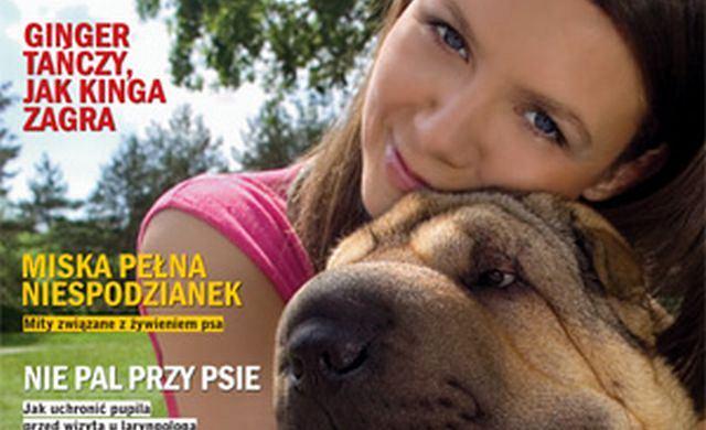 Rusin i jej pies na okładce