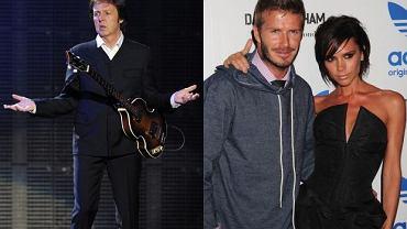Paul McCartney, David i Victoria Beckham