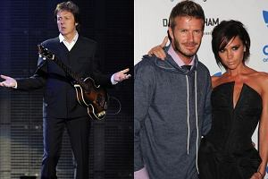 Paul McCartney, David i Victoria Beckham