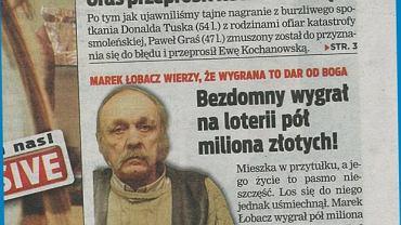 Marek Łobacz został zwycięzcą loterii ''Pusty SMS''. Nie wierzyliśmy, że można tam coś wygrać, ale on zgarnął pół miliona złotych. I ma ambitne plany - kupić kawalerkę w Lublinie i otworzyć stoisko gastronomiczne.