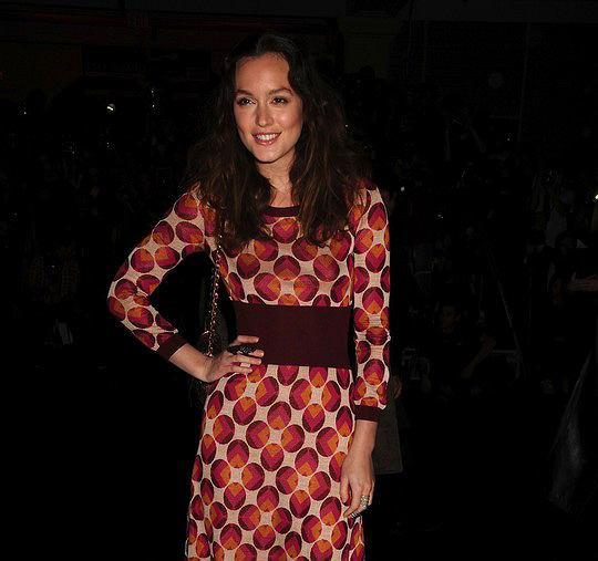 Leighton Meester na NYFW na pokazie Marca Jacobsa na jesień i zimę 2011/12