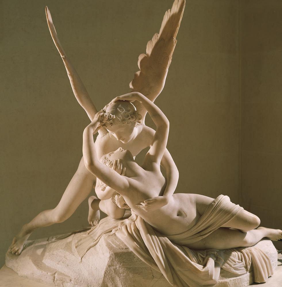 Miłość. Amor i Psyche, rzeźba Antonia Canovy (1757-1822). Miłość jest dziś przedmiotem badań psychologii i psychoanalizy