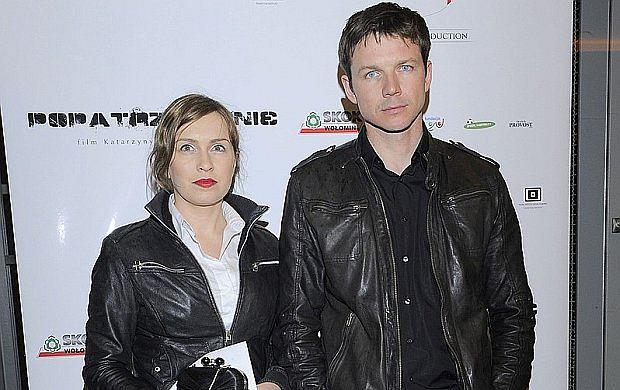Lesław Żurek z żoną.