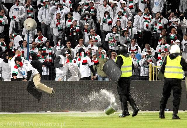 Burda na bydgoskim stadionie podczas Pucharu Polski