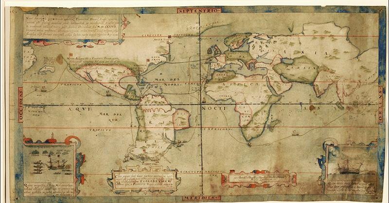 Opis wyprawy Francisa Drake'a - fot. Yale University