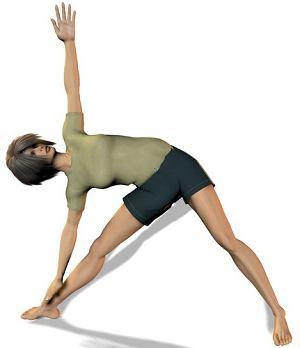 Trójkąt - pozycja jogi, ćwiczenia rozciągające dla biegaczy