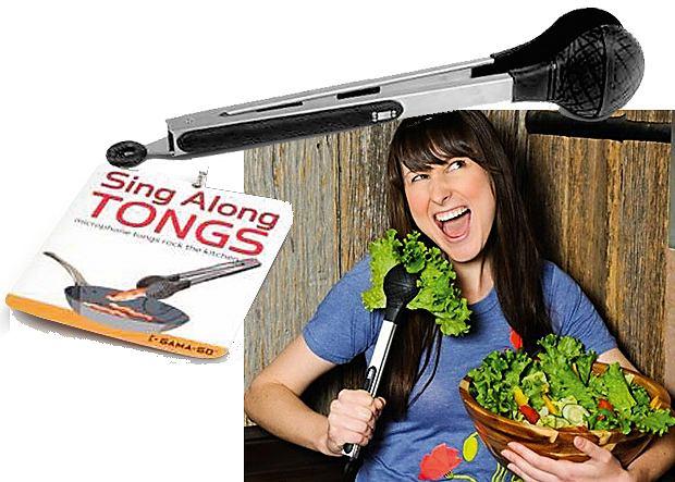 Sing-A-Long Tongs - zestaw karaoke do kuchni
