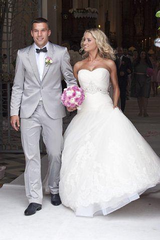 Lukas Podolski z żoną