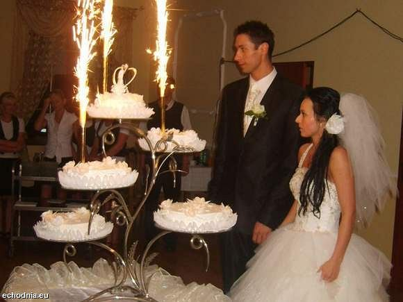 Mateusz Zaremba z żoną