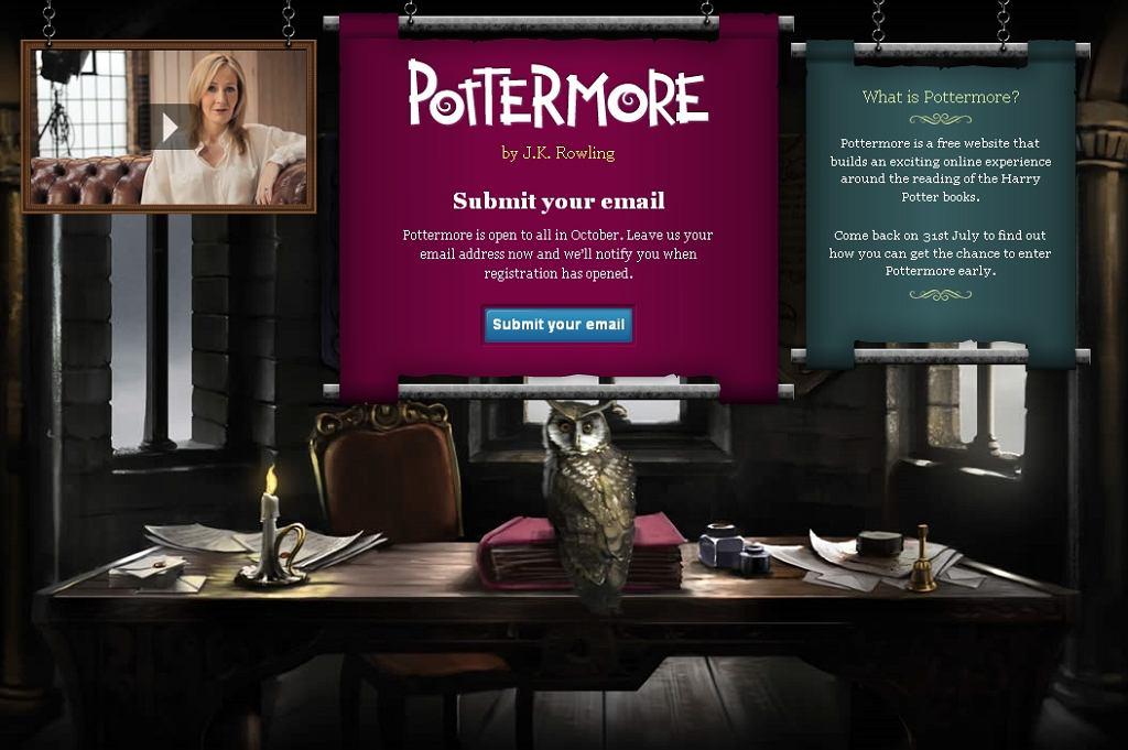 Cyfrowa wersja przygód Pottera zostanie udostępniona na stronie Pottermore