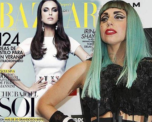 Irina Shayk na okładce Harper Bazaar