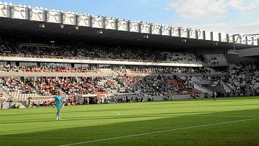 Stadion w Krakowie podczas meczu Cracovii z Jagiellonią Białystok