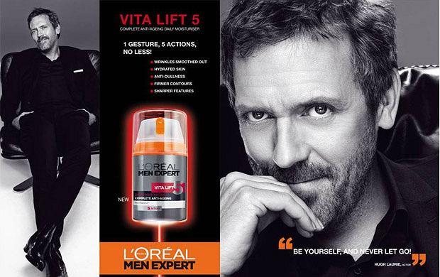 Hugh Laurie nowym ambasadorem marki L'Oreal